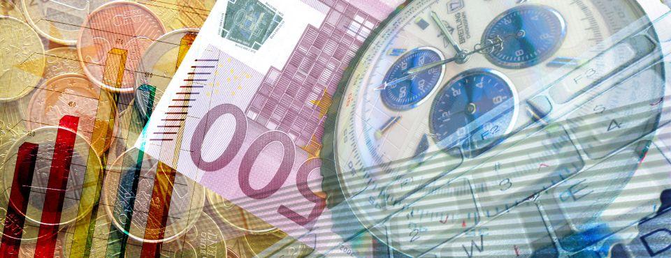 Čas - peníze - graf