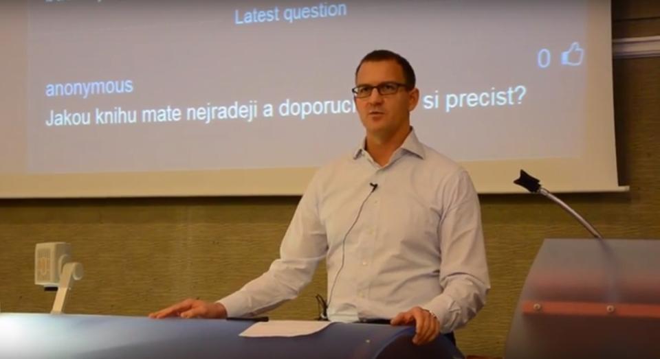 Daniel Křetínský (EPH) na VŠE v Praze